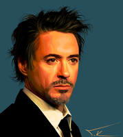 Robert Downey Jr portrait by TKadak