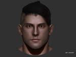 Human face sculpting/polypainting progress by DragonisAris