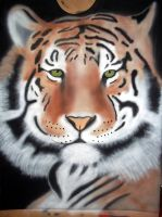 tiger airbrushed by javiercr69