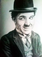 Charlie Chaplin ( the tramp) by AleksandarskiS