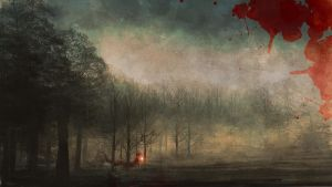 Red Riding Rain painting by Imrooniel