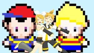 AT with LucasSecretSister Len and Rin Kagamine by Lucaslover89