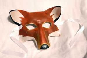 Leather Fox Mask by SerenFey