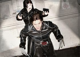 X force Wolverine and Domino by IamTheWolverine