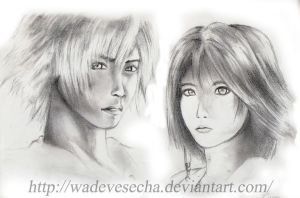 Tidus and Yuna by WadeVesecha
