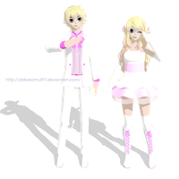 TDA Rin and Len FutureStyle White Magnet + DL Link by AkikoKamui97