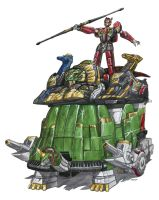 Heavy Armor Qi Palace aka Thunder Ultrazord. by VZMk2