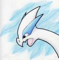 Lugia Head by suicunedragon
