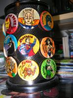 Handmade Hero Magnets: Justice League and Avengers by WibbitGuy