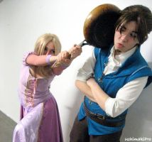 Rapunzel and Flynn - Not again by uchimakiPro
