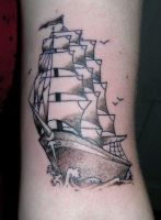 Luci's Ship Tattoo by scumbugg