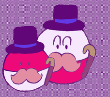 Mustache voltorb and electrode by hannakun