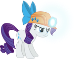 Miner Rarity with her luminescent magic by Osipush