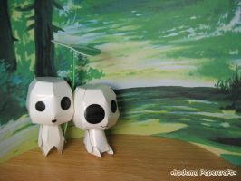 Forest Spirit Paperkraft by kickass-peanut