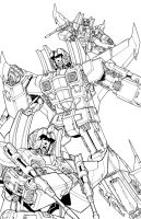 classic seekers lineart by markerguru