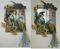 Art Nouveau Stained Glass Look by ArtfullyMusing
