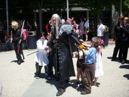 Fanime '10 Fighting over Sephi by Unicornmon