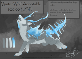 Winter Wolf Adoptable -SOLD- by BlazingBlackMage