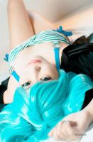 Caught you staring~ Miku Hatsune by AEimAginE