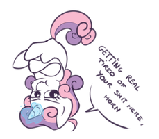 Sweetie Belle [spoiler S04E01] by secret-pony