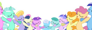 Come on everypony, smile smile smile by Pikamander2