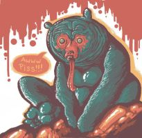 Piss the Gorilla Bear by TOMMYtheSQUID