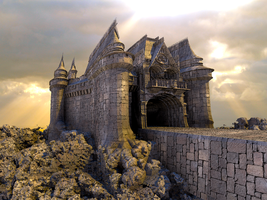 Mixpinski Castle - Mandelbulb with Parameter by matze2001