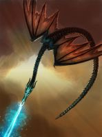 Fantasy Dragon card art for levynlight game by Colin-Ashcroft