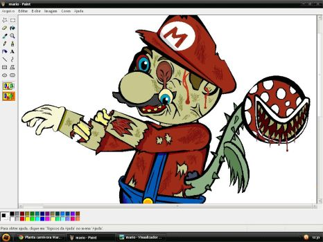 Mario Zumbi Paint by Mirraine