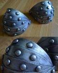 HTTYD2: Astrid's pauldrons by Stealthos-Aurion
