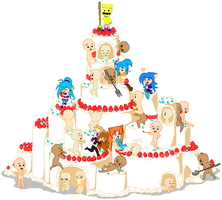 Cake Collab - King of the Cake by MarioMario54321