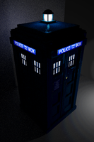 TARDIS in Dark Corner by TheBigDaveC