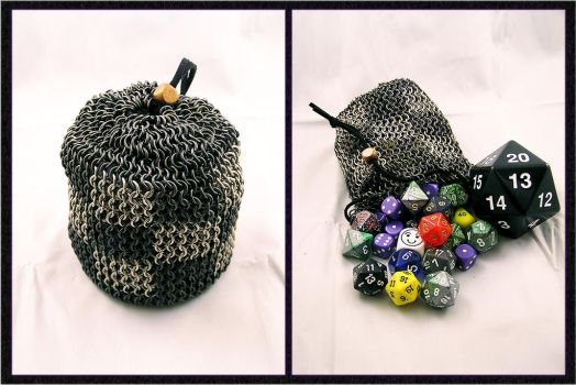 Checkered Stainless Dice Bag by chainedoombaby