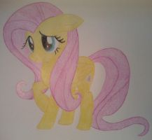 Fluttershy being shy by Theobald93
