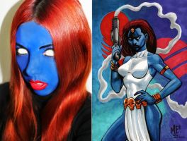 Mystique (make up test II) by FlorBcosplay