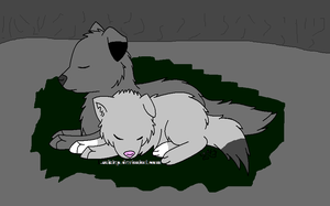 Brother And Sister Wolves by M0ssie