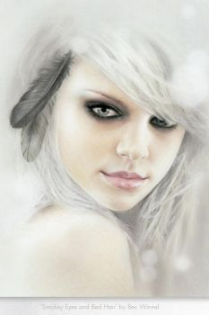 Bed Hair and Smokey Eyes by becwinnel