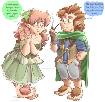 The Hobbit - Leanna and Bilbo by pistachioZombie