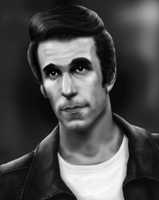 the fonz  FONZIE by KarbaArttacke