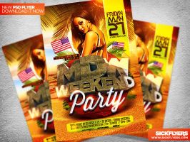 Memorial/ MDW Day Flyer Template PSD by Industrykidz