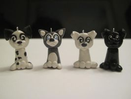 Dog charms, group 2 by Blazesnbreezes