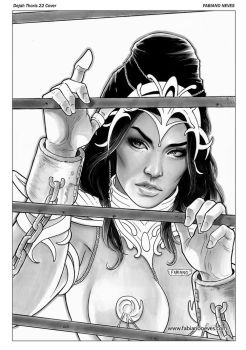 Dejah Thoris 22 Cover Art by FabianoNeves