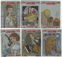 TOPPS Star Wars cards, pt. 10 by katiecandraw