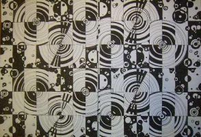 black and white circles by die-sonni