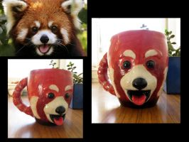 Red Panda Mug by aviceramics