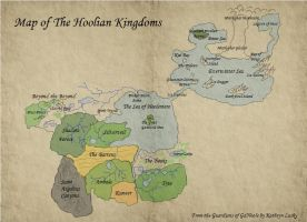 Guardians of Ga'Hoole Map by citreneowl