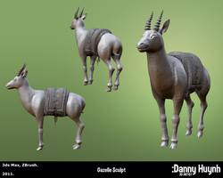 Gazelle Sculpt 02 by dannyhuynh99