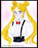 usagi tsukino  - sailor moon by zelldinchit