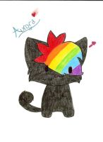 Aurora rainbow cat thing by Angelsketch-artist