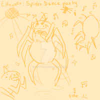 Dom draws a spider dance party by Cippy21